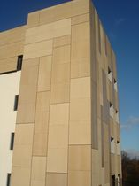 insulated fibre-reinforced cement cladding for ventilated façade ROUGH PIZ srl