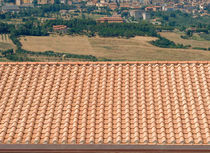 interlocking clay roof tile ROMANA - CRETE SENESI COTTO SENESE