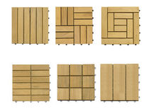 interlocking wooden deck tile for exterior floors (teak)  Deesawat Industries
