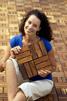 interlocking wooden deck tile for exterior floors (teak) LE CLICK TEAK Infinita Corporation