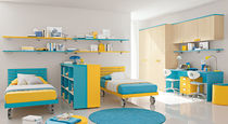 kids bed with casters (boys) GOLF: 221 Colombini