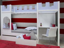 kids bed with drawers (boys : castle) AMBIENTE CASTILLO Babyroom