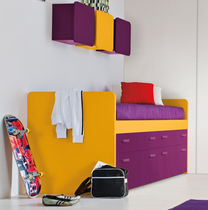 kids bed with drawers (girls) LOBBY BOX Clever