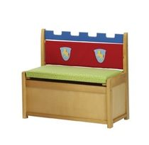 kids bench with toy box (boys) LITTLE CASTLE roba Baumann