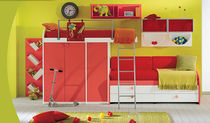 kids bunk bed with storage cabinets (girls) MOSAIKO KIDS Faer Ambienti