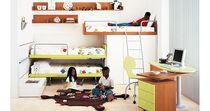 kids bunk bed with storage cabinets (unisex) NARDI Homes