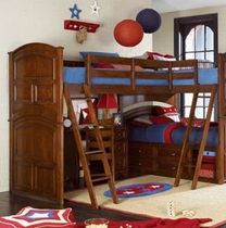 kids corner bunk bed (unisex) DEER RUN : 625-936 LEA INDUSTRIES