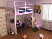 kids loft bed (boys) LETTO A SOPPALCO NIDO Cinius