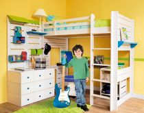 kids loft bed with desk (boys) LUDOLIT Atelier Quinze