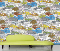 kids pattern wallpaper (boys) CAR WRECK by Studio Job Domestic