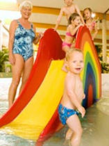kids slide for public pools RAINBOW Hartwigsen