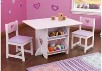 kids table and chairs set (girls) HEART KidKraft