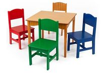 kids table and chairs set (unisex) NANTUCKET COLOURS KidKraft