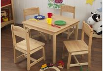 kids table and chairs set (unisex) FARMHOUSE KidKraft