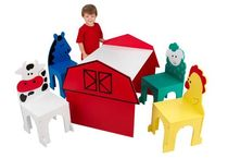 kids table and chairs set (unisex) BARNYARD KidKraft