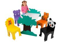 kids table and chairs set (unisex) JUNGLE KidKraft