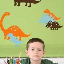 kids vinyl wall sticker (boys) STICKYSAURUS StickyUps