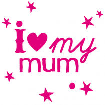 kids wall sticker (girls) I LOVE MY MUM MIMI'lou