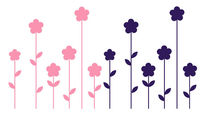kids wall sticker (girls) FLOWERS FLEXA