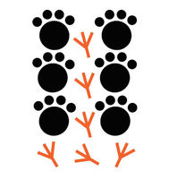 kids wall sticker (unisex) ANIMAL FOOTPRINTS FLEXA