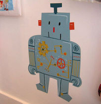 kids wall sticker (boys) MON ROBOT by Marion Piffaretti Poisson Bulle