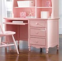 kids writing desk with shelf (girls) SEASIDE DREAMS : 890-345 LEA INDUSTRIES