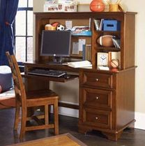 kids writing desk with shelf (unisex) DEER RUN : 625-345 LEA INDUSTRIES
