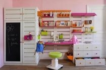 kids writing desk with shelf (girls)   Atelier Quinze