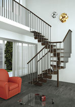 kit-set half-turn staircase with central stringer TIMBER MisterSTEP
