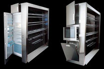 kitchen wall cabinet in carbon fiber and stainless steel (handmade)  sheer