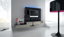 contemporary lacquered glass TV wall unit PROGETTO 037 OLTREDOMO