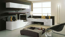 contemporary lacquered TV wall unit LINEA NAVA