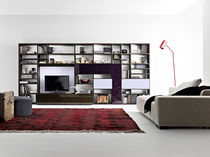 contemporary lacquered TV wall unit MODULO : 107 Doc Mobili
