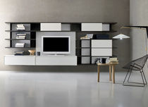contemporary lacquered TV wall unit ALTERNO : A103 Satarossa Design