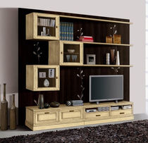 lacquered wood traditional TV wall unit FIRENZE : 922 VACCARI CAV. GIOVANNI