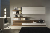 contemporary lacquered wood TV wall unit EVOLUZIONE NEXT ART. E/19 VISENTIN GIUSEPPE