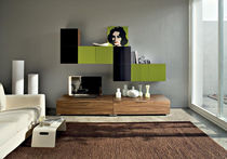 contemporary lacquered wood TV wall unit SISTEMA STORIA Sicea