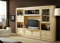 contemporary lacquered wood TV wall unit ADRIANNA aryecla