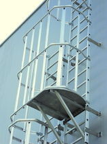 ladder with safety cage SECURECHELLE® SOMAIN SECURITE