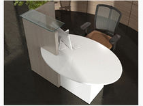 laminate reception desk OVO MSL Interiors Ltd