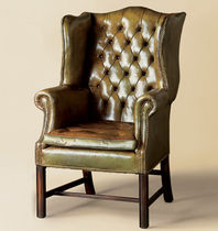 leather classic style armchair TUFTED WING  Lee Jofa