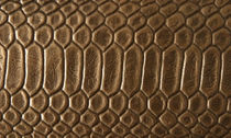leather wall tile: animal print RATTLESNAKE : ANTIQUE BRONZE Corporion