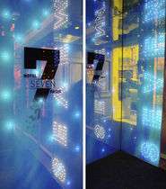 LED intergated laminated glass panel (for joinery) INOVA LEDS Miroiterie RIGHETTI