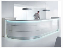 light reception desk VALDE MSL Interiors Ltd
