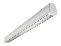 linear ceiling mounted fluorescent luminaire (for offices) AERLINE LOUVRE  Hacel Lighting