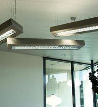 linear suspended fluorescent luminaire D-CONCRETE by Ivan Missinne DARK AT NIGHT NV