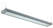 linear suspended fluorescent luminaire LINEAR LIGHT4: SOLO ETCHED  Hacel Lighting