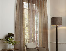 linen sheer curtain fabric CADENCE LECRIN