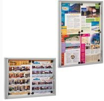 magnetic board in brushed aluminium W6.217001 EDIMETA