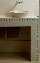 marble counter top washbasin with counter  Ceramica Decorativa